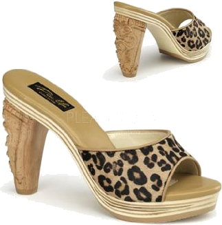 c149f48cac7 Pin Up Couture Sandals - Sexy Leopard Tiki Heel Slide -  81.60 - trendMe.net