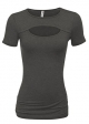 Clothes/footwear details Simlu Womens Keyhole Top Short Sleeve Tops Reg and Plus Size- Made in USA (Shirts)