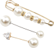 Clothes/footwear details Simple Long Rhinestone Pearl Suit Brooch Female Creative Trend Anti-fade Cuff Pi (Other jewelry)
