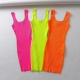Clothes/footwear details Sleeveless Sleeveless Dress with Fluorescent Dress (Dresses)