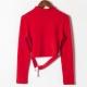 Clothes/footwear details Small high neck high waist short hem col (Shirts)