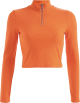 Clothes/footwear details Stand collar zipper short long sleeve ca (T-shirts)