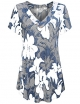 Clothes/footwear details Sweetnight Women Floral Print V Neck Button Decor Peasant Summer Swing Tunic Tops Shirts (Shirts)