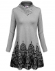 Clothes/footwear details Sweetnight Women's Long Sleeve Swing Cowl Neck Floral Printed Casual Tunic Tops (Dresses)