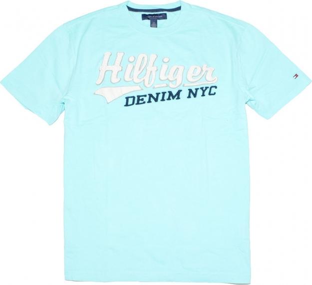 Tommy hilfiger t shirts tommy hilfiger men big logo blue for Big blue t shirts