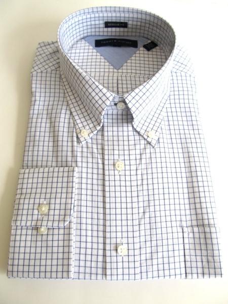 Tommy Hilfiger Mens Long Sleeve Regular Fit Dress Shirt