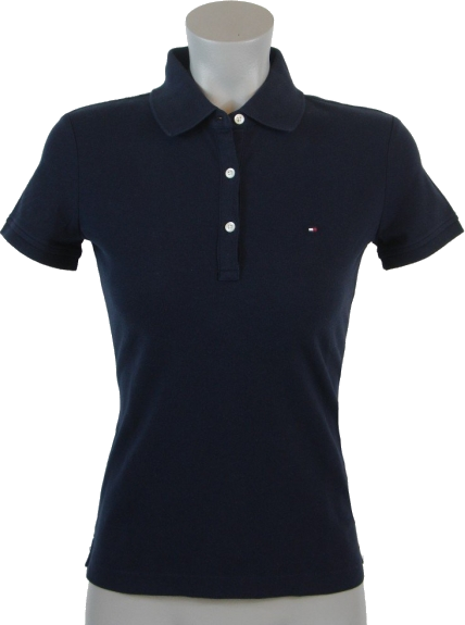 Tommy Hilfiger Shirts Tommy Hilfiger Slim Fit Womens Pique Polo Shirt Navy