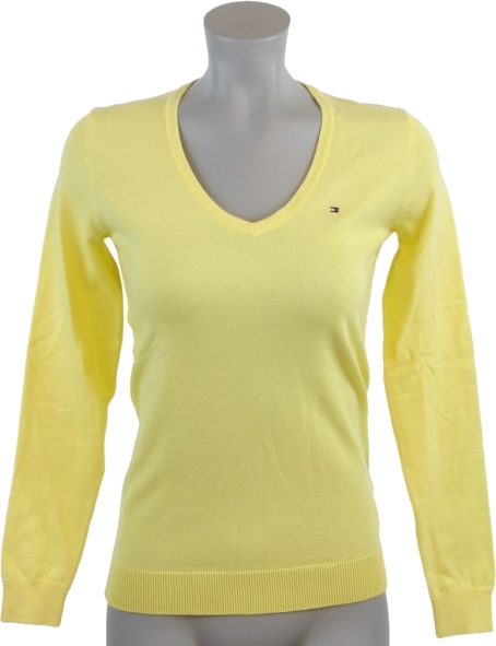 Tommy Hilfiger Pullovers - Tommy Hilfiger Women Logo Yellow ...