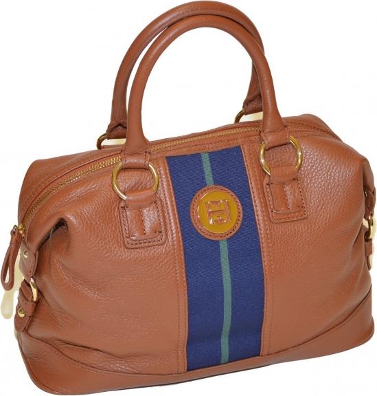 6552df6356cb Tommy Hilfiger Hand bag - Tommy Hilfiger Women Pebble Leather Bowler  Handbag Brown