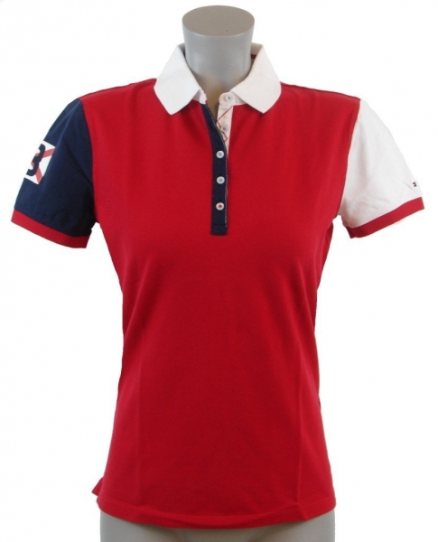 Tommy hilfiger shirts tommy hilfiger womens slim fit red for Amazon logo polo shirts
