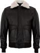 Clothes/footwear details USAF A2 Aviator Mens Brown Bomber Leather Jacket (Jacket - coats)