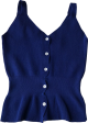 Clothes/footwear details V-Neck Large Halter Single-Line Buttoned (Vests)