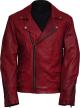 Clothes/footwear details Versatile Men's Biker Vintage Red Leather Jacket (Jacket - coats)