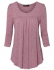 Clothes/footwear details Vinmatto Women's 3/4 Sleeve Scoop Neck Front Pleated Tunic Top (Top)