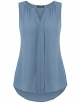 Clothes/footwear details Vinmatto Women's Notch Neck Sleeveless Pleated Front Chiffon Blouse Tank Top (Top)