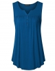 Clothes/footwear details Vinmatto Women's Sleeveless Henley V Neck Pleated Button Details Tunic Shirt Tank Top (Top)