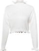 Clothes/footwear details Vintage Ruffled Stand Collar Long Sleeve (Cardigan)