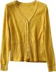 Clothes/footwear details Vintage V-neck diamond-shaped small lace (Cardigan)