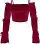 Clothes/footwear details Vintage burgundy one-shoulder top trumpe (Shirts)