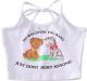 Clothes/footwear details Vintage cat print halter neck tie vest (Vests)