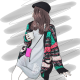 Clothes/footwear details Vintage ethnic style warm and heart-shap (Cardigan)