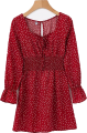 Clothes/footwear details Vintage red polka dot square neck dress (Dresses)