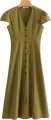 Clothes/footwear details V-neck A Linen Maxi Dress (Dresses)