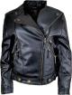 Clothes/footwear details WOMENS BLACK ASYMMETRICAL BIKER LEATHER JACKET (Jacket - coats)