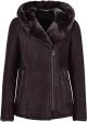 Clothes/footwear details WOMENS BLACK SHEEPSKIN SHEARLING B3 AVIATOR LEATHER JACKET (Jacket - coats)