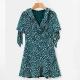Clothes/footwear details Waist belt polka dot ruffle dress (Dresses)