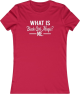Clothes/footwear details What is Black Girl Magic? Red Women's Fitted T-Shirt (T-shirts)