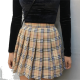 Clothes/footwear details Wild Plaid Pleated Skirt (Skirts)