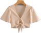 Clothes/footwear details Wild Short Sleeve V-Neck Top (Shirts)