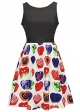 Clothes/footwear details Women Vintage Apple Sleeveless Pleated Cocktail Party Swing Dress (Dresses)