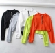 Clothes/footwear details Women's Half-Zip Sweatshirt Solid Color Pullover Sweatshirt Long Sleeve T-Shirt (Shirts)