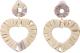 Clothes/footwear details Womens Heart Shaped Raffia Earrings Nhjj134793 (Earrings)