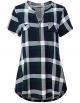 Clothes/footwear details Women's Zip V Neck Short Sleeve/Sleeveless Casual Blouse Tunic Shirt (Shirts)