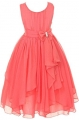 Clothes/footwear details YMING Big Girl Kids Sleeveless Asymmetric Chiffon Flower Party Wedding Bridesmaid Dress (Dresses)