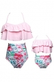 Clothes/footwear details YMING Summer Cute Bikini Set Family Matching Swimwear Mommy and Me Swimsuit (Swimsuit)