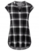 Clothes/footwear details Youtalia Women's Casual Cap Sleeve Notch V Neck Plaid Tunic Blouse Shirts (Shirts)