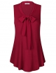 Clothes/footwear details Youtalia Womens Knitted Tops Bow Tie V Neck Sleeveless Blouse Shirts (Shirts)