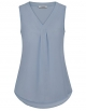 Clothes/footwear details Youtalia Womens Sleeveless Chiffon Pleated V Neck Casual Blouse Shirt Tops (Shirts)
