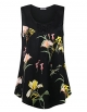 Clothes/footwear details Youtalia Womens Sleeveless Tops Chiffon Scoop Neck Floral Pleated Tank Top (Shirts)