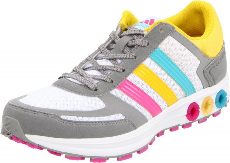 8a5f468608804 adidas Sneakers - adidas Women's La Trainer W Running Shoe Running  White/Wonder Glow/Shift Grey