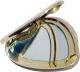 Clothes/footwear details gold heart compact (Uncategorized)