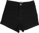 Clothes/footwear details retro washed high waist shorts (Shorts)
