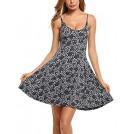 Acevog My look -  ACEVOG Women's Casual Fit and Flare Floral Sleeveless Beach Slip Strap Skater Dress