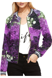 All Over Print Bomber Jacket For Women  - Passerella