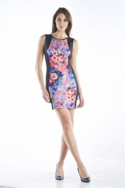 BODYCON FLORAL PRINT DRESS - Catwalk