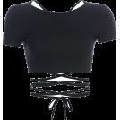 FECLOTHING Shirts -  Basic halter strap short-sleeved T-shirt